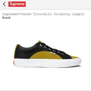 Supreme®/Vans® Crocodile Corduroy Lampin Sneaker